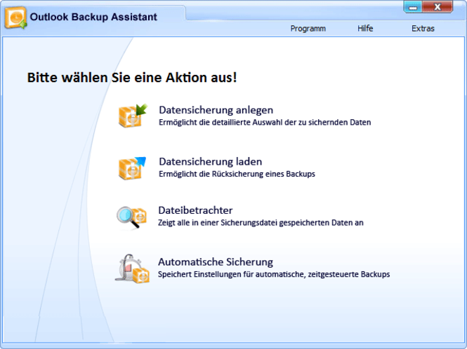 Outlook Backup Assistant Screenshot 1