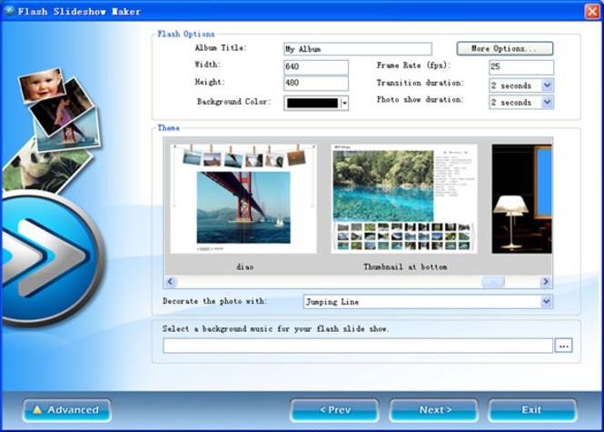 AnvSoft Photo Flash Maker (Flash Slideshow Maker) Screenshot