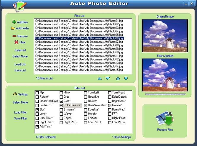 Auto Photo Editor Screenshot