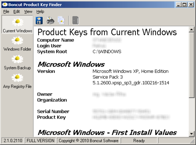 Boncut Product Key Finder Screenshot