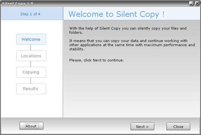 Silent Copy Screenshot