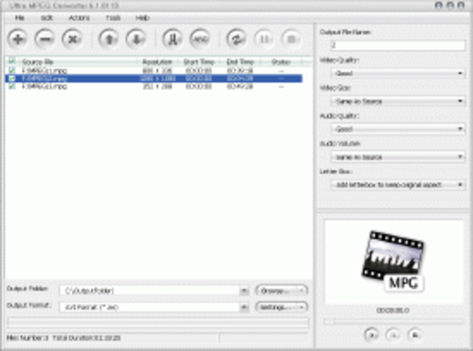 Ultra MPEG Converter Screenshot