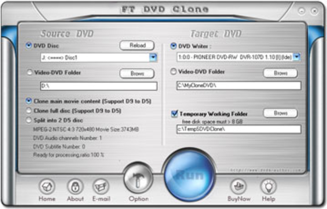 FT DVD Clone Screenshot