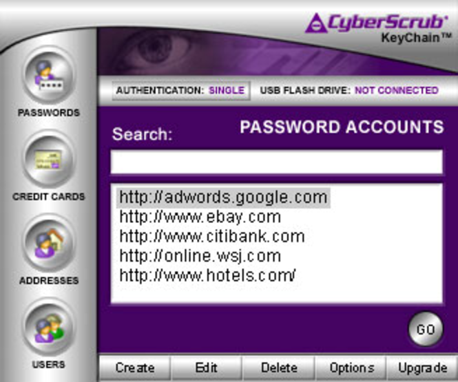 CyberScrub KeyChain Screenshot 1