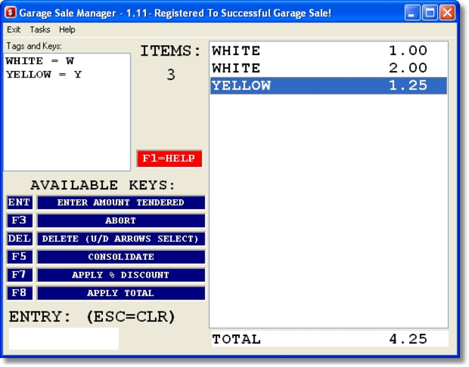 Garage Sale Manager plus eBook Screenshot 1