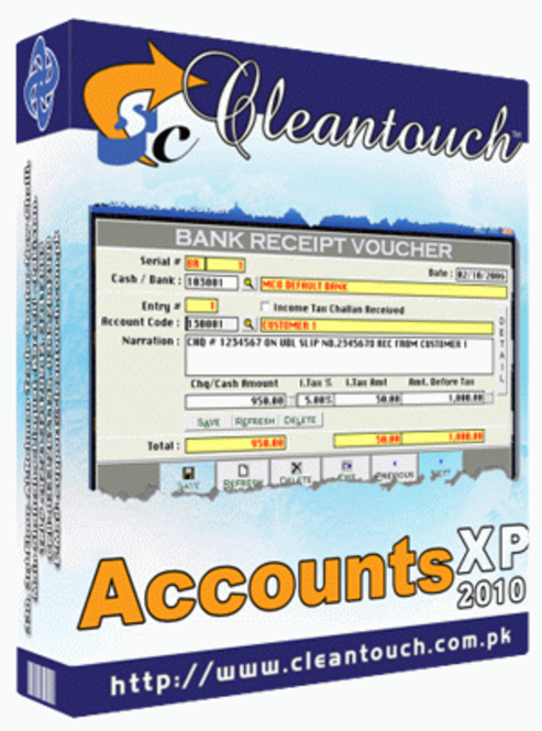 Cleantouch Accounts XP 2010 Screenshot