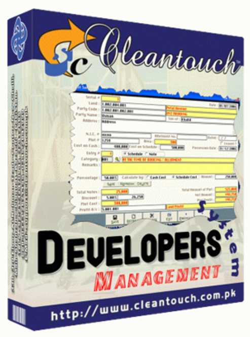 Cleantouch Developers Management System Screenshot