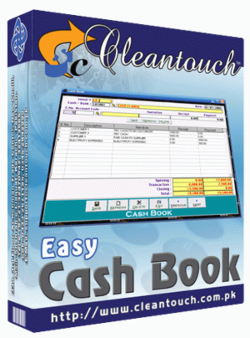 Cleantouch Easy Cashbook Screenshot