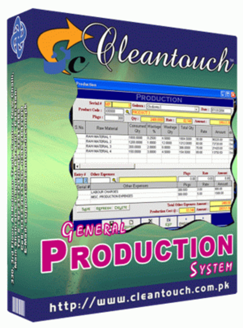 Cleantouch General Production System Screenshot 1