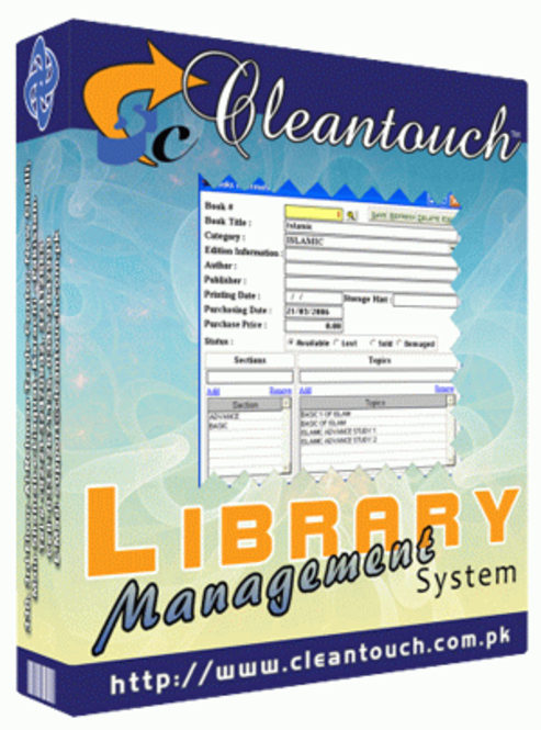 Cleantouch Library Management System Screenshot 1