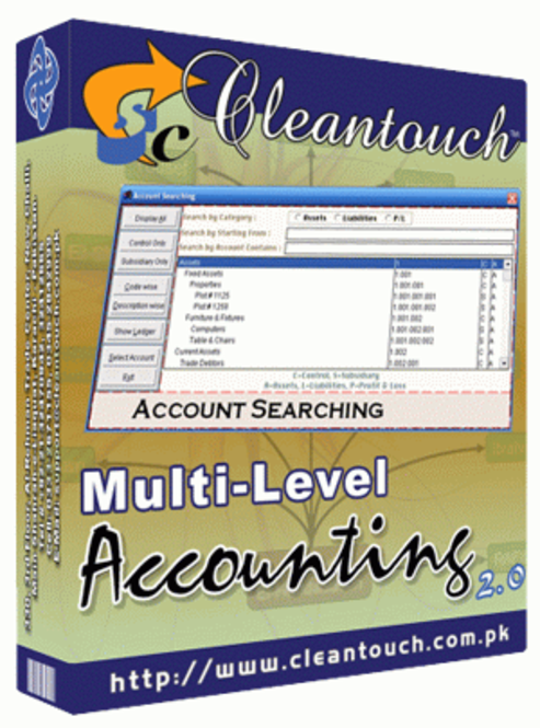 Cleantouch Multi-Level Accounting 2.0 Screenshot 1
