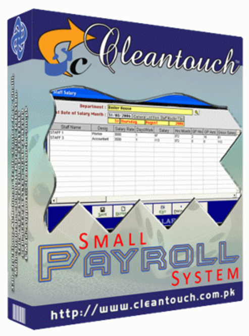 Cleantouch Small Payroll System Ver 2.0 Screenshot