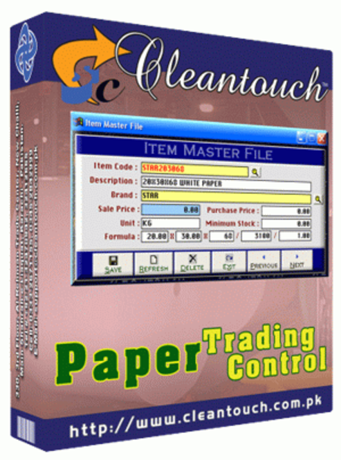Cleantouch Paper Trading Control (PTC) Screenshot