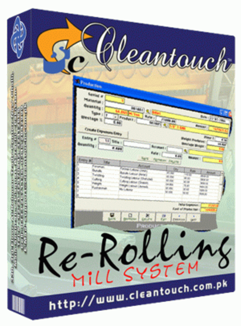Cleantouch Re-Rolling Mill System Screenshot