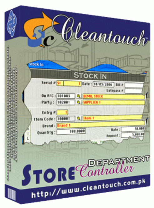 Cleantouch Store Department Controller Screenshot
