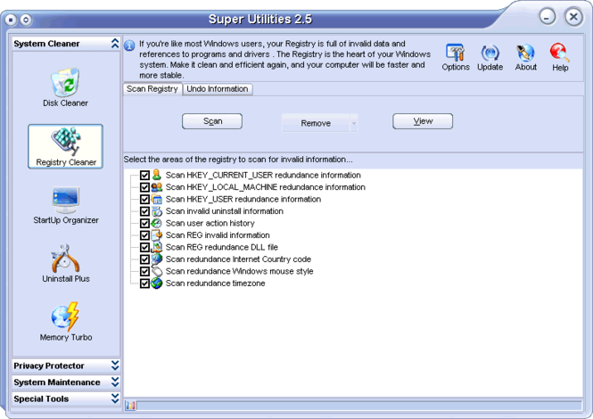 Super Utilities Vista Screenshot