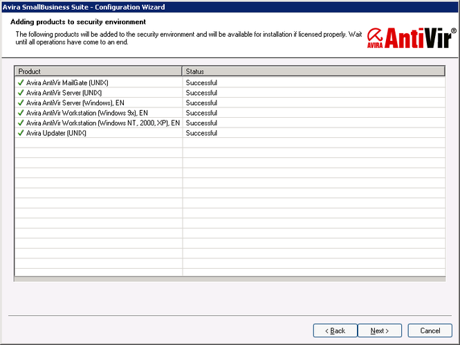 Avira Small Business Security Suite Screenshot