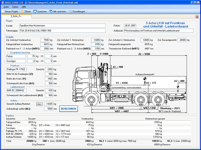 AXLE-LOAD Screenshot