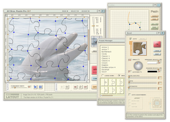 AV Bros. Puzzle Pro for Windows Screenshot