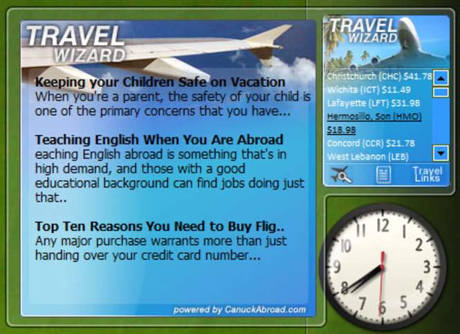 The Travel Wizard Screenshot