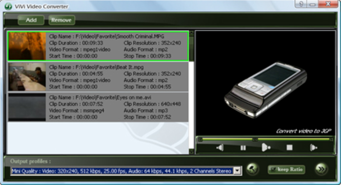 ViVi 3GP Converter Screenshot