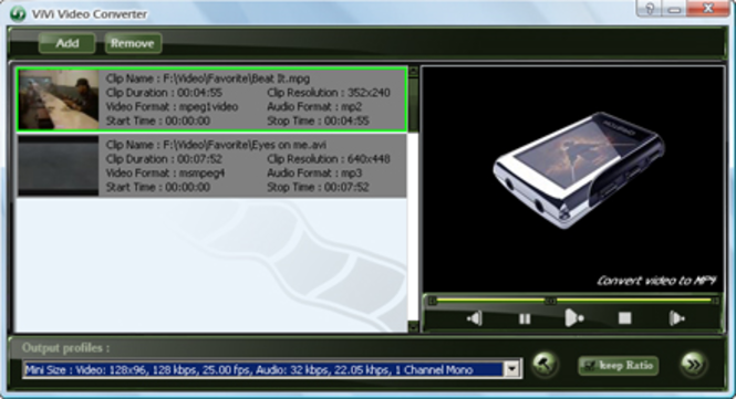ViVi MP4 Converter Screenshot