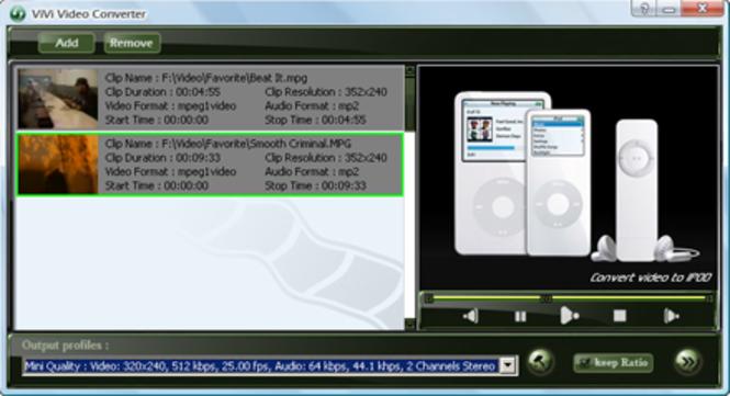 ViVi iPod Converter Screenshot