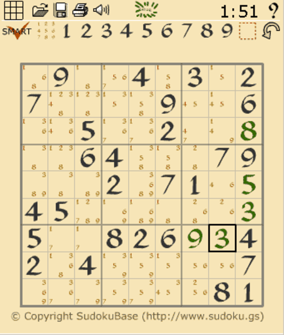 Sudoku Flash Screenshot