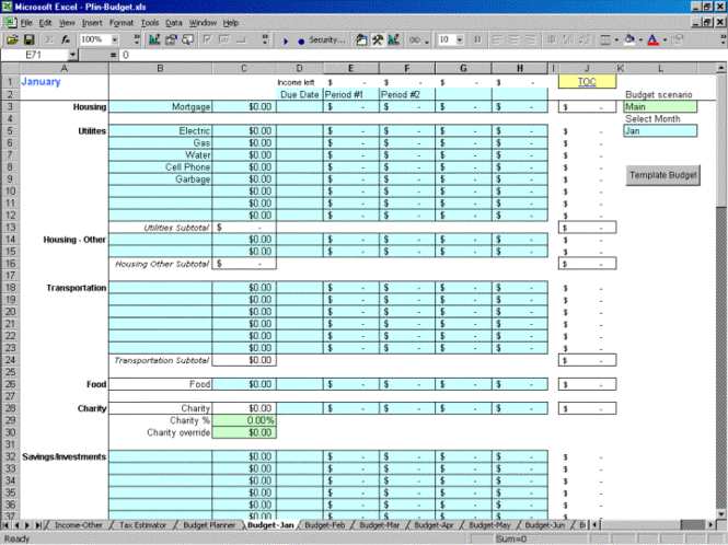 pFin Budget Screenshot 1