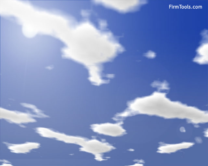 FirmTools Clouds Screensaver Screenshot