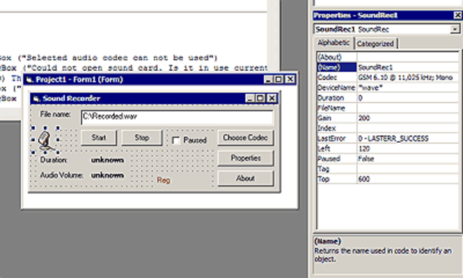 Sound Converter ActiveX Component Screenshot