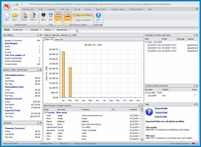 CRM-Express Standard Screenshot