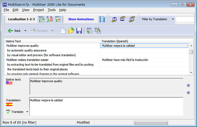 Multilizer Lite for Documents Screenshot