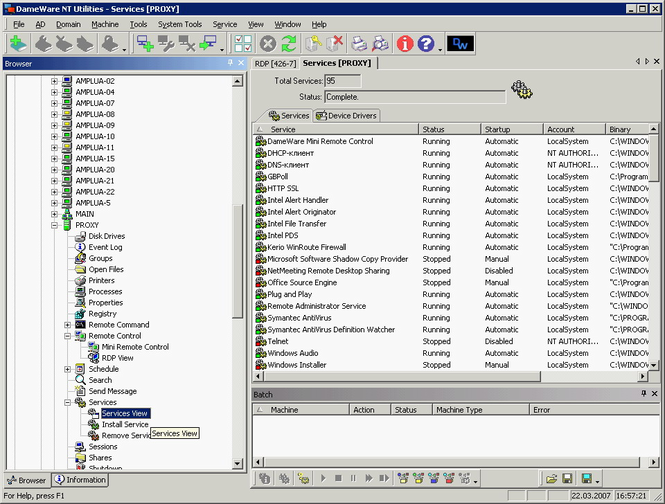 DameWare NT Utilities Screenshot 2