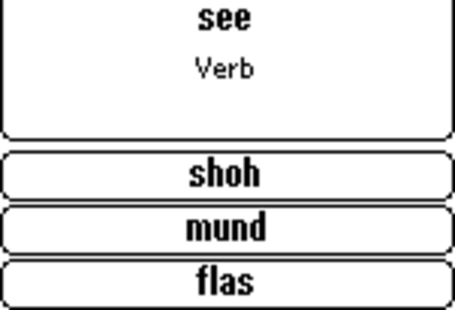 ECTACO FlashCards English <-> Albanian for Palm OS Screenshot 1