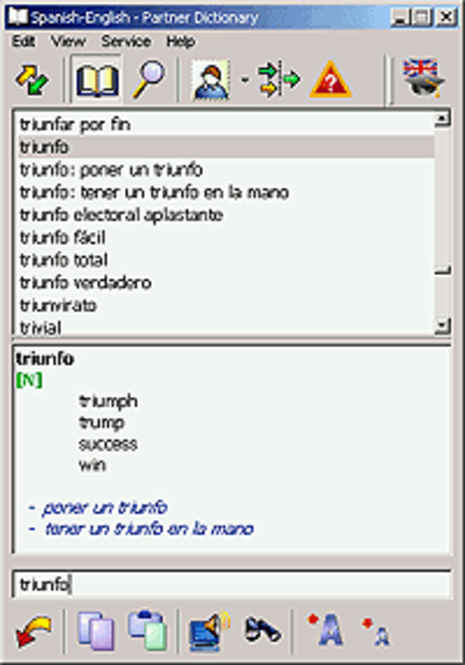 ECTACO English <-> Spanish Talking Partner Dictionary for Windows Screenshot