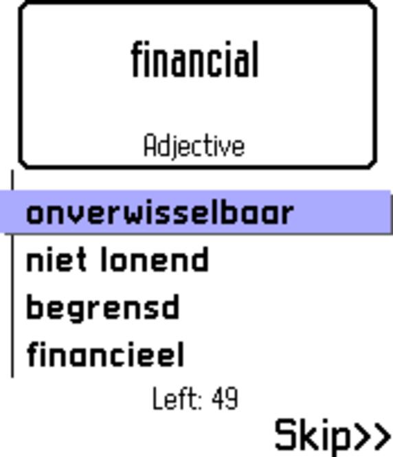 ECTACO FlashCards English <-> Dutch for Nokia Screenshot 1