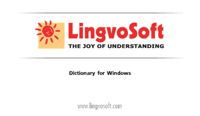 LingvoSoft Dictionary English <-> Hebrew for Windows Screenshot 1