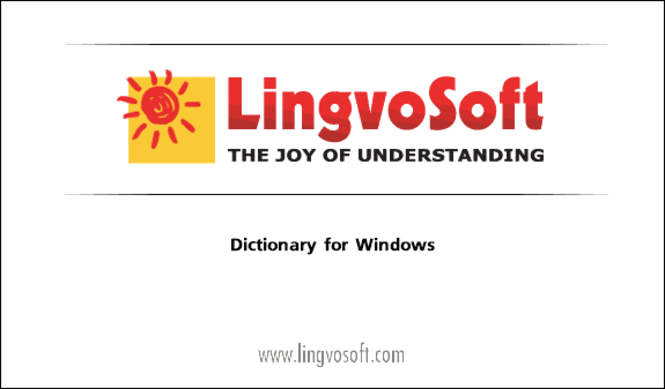 LingvoSoft Dictionary English <-> Farsi for Windows Screenshot