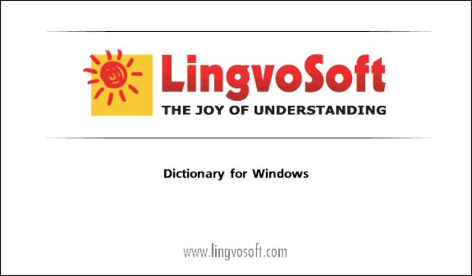 LingvoSoft Dictionary English <-> Farsi for Windows Screenshot 1