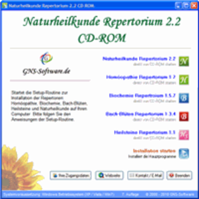Naturheilkunde Repertorium CD-ROM Screenshot 1