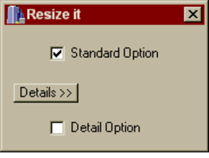 ThlResizer VCL component Screenshot