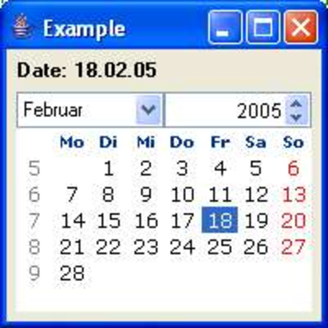 Light Development Date Picker Screenshot