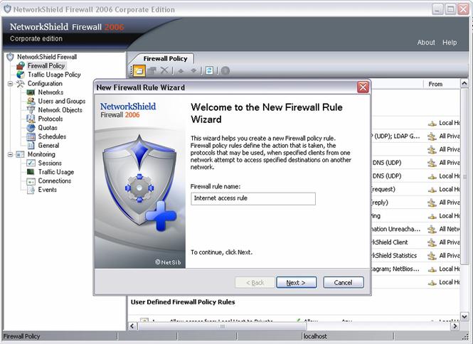 NetworkShield Firewall 2006 base incl. 10ALs Screenshot