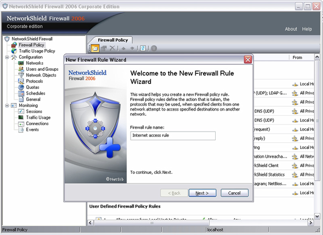 NetworkShield Firewall 2006 addon 20ALs Screenshot 1