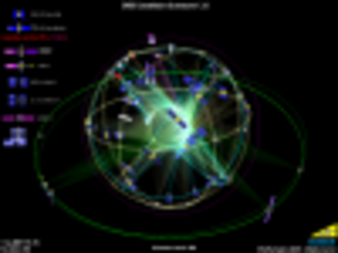 GNSS Constellation Screensaver Screenshot 1