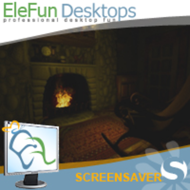 Fireplace - Animated Screensaver Screenshot