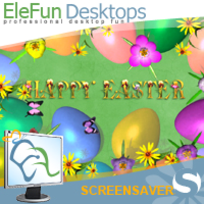 Easter Eggs - Animated Screensaver Screenshot 1