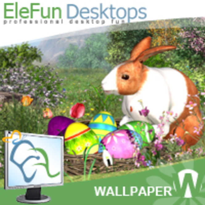Easter Rabbit - Animated Wallpaper Screenshot