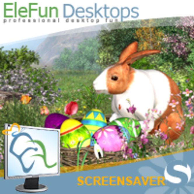 Easter Rabbit - Animated Screensaver Screenshot 2